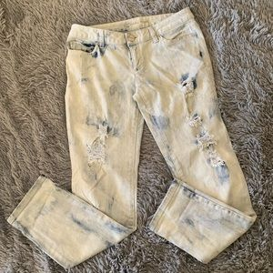 MICHAEL KORS distressed bleached style jeans